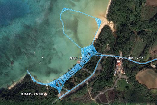 石垣島底地ビーチのストリートビュー