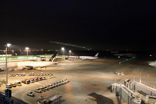 羽田空港の展望デッキ