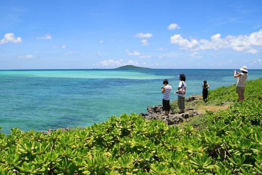 大神島が見える